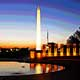 sunrise At WWII Memorial